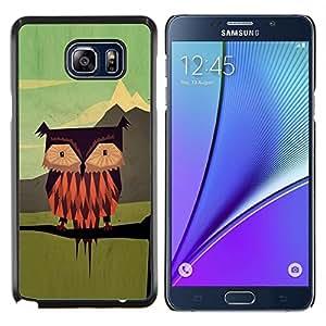 Stuss Case / Funda Carcasa protectora - Hombre Búho Arte de la historieta Vinagreta - Samsung Galaxy Note 5