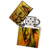 Woody In Central Park Painting by Jennifer Payne Silver Flip Top Cigarette Lighter