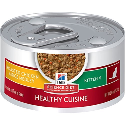 Hill's Science Diet Kitten Healthy Cuisine Roasted Chicken & Rice Medley Canned Cat Food, 2.8 oz, by Hill's Science Diet Cat by Hill's Science Diet Cat