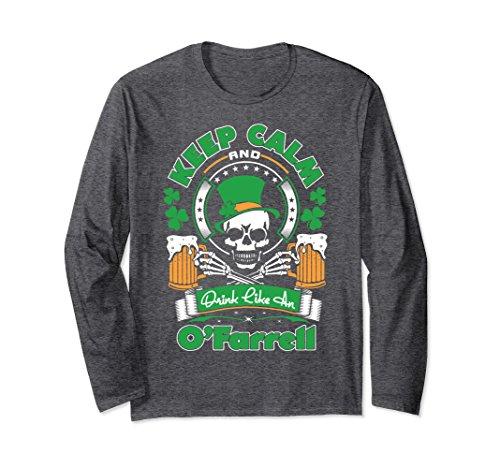 Unisex Keep Calm And Drink Like O'Farrell St Patrick Irish Tshirt Small Dark - St Farrell O