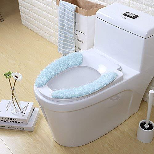 LanDream Toilet Cushion Toilet Cushion Plant Pattern Bathmats Three Piece Toilet Mat Mat in Bathroom,Five