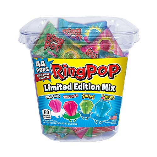 (Ring Pop Candy Jar, Assorted Flavors (44 ct.) - Flavor of your)