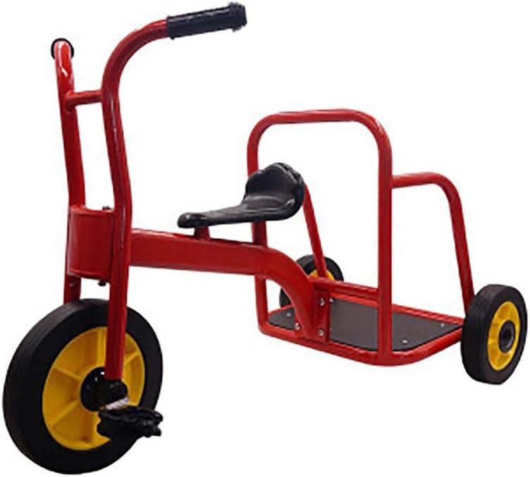 SHARESUN My Rider Chariot Tandem Bike para niños, Triciclo para niños, diseño Retro, Ruedas de Goma, Trike, Cubierta Delantera de Guardabarros cromada, Bicicleta de Paso