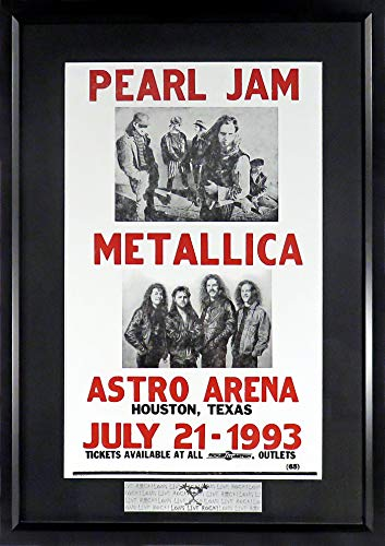 Pearl Jam & Metallica Concert Poster (w/