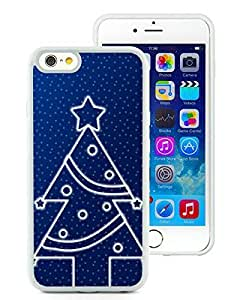 Personalized Hard Shell iPhone 6 Case,Christmas Tree White iPhone 6 4.7 Inch TPU Case 17