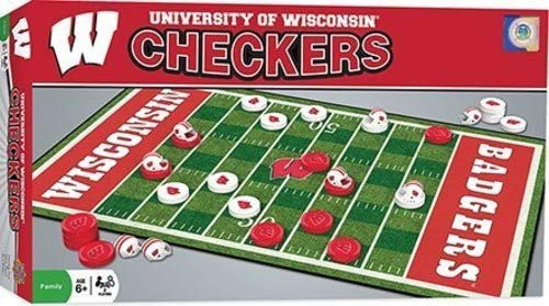 (MasterPieces Collegiate Wisconsin Checkers Game)