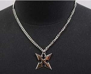Kingdom Hearts II Roxas cruz colgante collar de la cadena de ventas cosplay