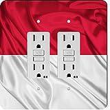 Rikki Knight 1710 Gfidouble Indonesia Flag Design Light Switch Plate