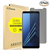 [2-pack]Aolander Privacy Screen Protector,[Anti Spy 9H] [Anti-Fingerprint] Tempered Glass, Edge to Edge Screen Protector for Samsung Galaxy A8 Plus 2018.