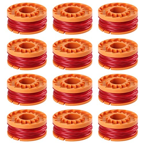 - Trimmer Line, TOTGO for Worx WA0010 Replacement Spool Line for Grass Trimmer Edger 10ft 3-Pack 6-Pack 9-Pack 12-Pack (12-Pack)