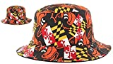 Maryland Flag Baltimore Baseball Mens Bucket Hat Cap (One size fits most)