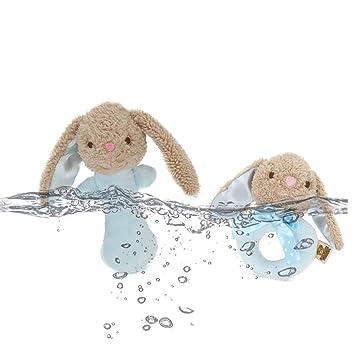 Hemore - Peluche de peluche para bebé, juguetes de bebé, mancuerna de dibujos animados
