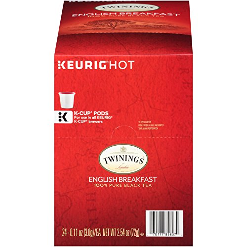 Twinings of London English Breakfast Tea K-Cups for Keurig, 24 Count ()