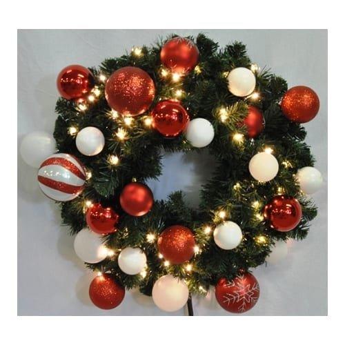 Christmas at Winterland WL-GWSQ-04-CDY-LWW 4 Foot Pre-Lit Warm White Sequoia Wre, Warm White -