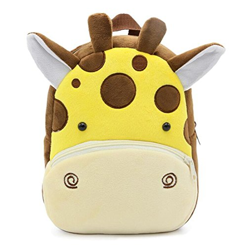 SEALINF Toddler Boys Girls Small Cartoon Plush Backpack Kids Preschool Animal Mini Bags 1-3 Years (pattern 16)