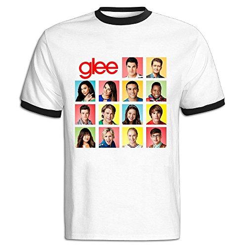 Leuis Men's Glee Season2 Casual T-Shirt L Black