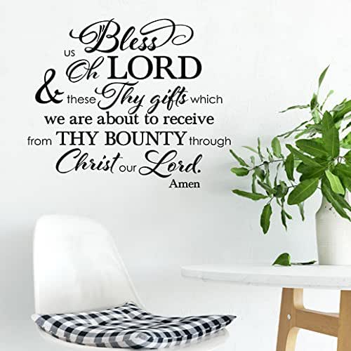 Kitchen Blessing Wall Decor: Amazon.com: Kitchen And Dining Room Blessing Vinyl Wall