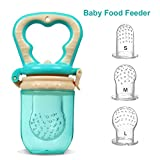 Baby Food Feeder,KINTTO Infant Teething Toy | Silicone Sacs with Interchangeable 3-Sized for Toddlers