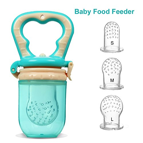 Baby Food Feeder,KINTTO Infant Teething Toy | Silicone Sacs with Interchangeable 3-Sized for Toddlers by KINTTO