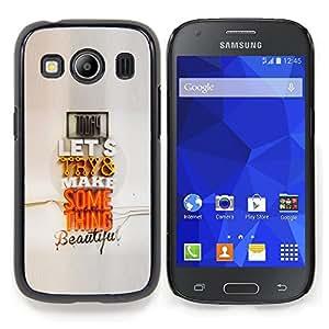 Stuss Case / Funda Carcasa protectora - Pareja moderno Cita regalo Arte Pop Amor - Samsung Galaxy Ace Style LTE/ G357