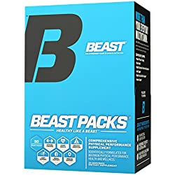 Beast Packs All-In-One Daily Multi-Vitamin Packs: A Multi-Vitamin Complex plus Probiotics, Joint Complex, Brain Function, Heart Health, with Fish Oil and CLA. Performance and Wellness. 30 Servings