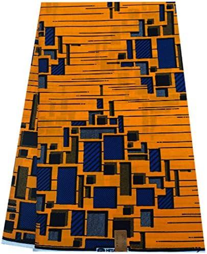 tela del vestido. Para Algodón 6 metros Tela Impresión africana Ankara
