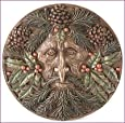 Celtic Green Man -Yule - Winter Plaque in Bronze by Nemesis Now