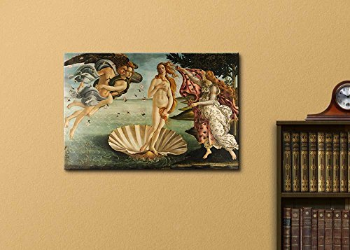 Birth of Venus by Botticelli Stretched Framed 12 L X 18 W