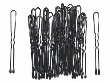 4 5cm Black Metal Waved U Shape Hair Pins Grips Bun Up Do Bobby Pin By
