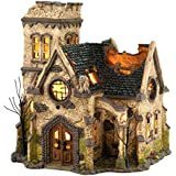 Department 56 Snow Village Halloween The Haunted Church Lit House, 9.06-Inch