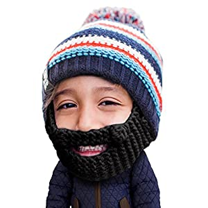 cc163b7e2e92f Beard Head Kid Gromm Beard Beanie – Knit Hat w Fake Beard for Kids and  Toddlers