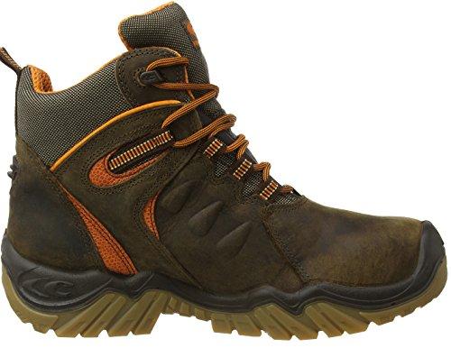 S3WR HRO SRC Mont Serra Chaussures de sécurité Cofra Chaussures de travail capuchon en plastique Protection anti-perforation en cuir véritable marron/orange