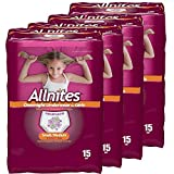Allnites Overnight Underwear for Girls, Small/Medium, (15-Count), Pack...
