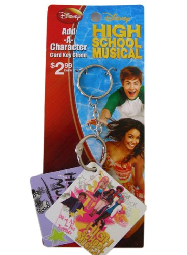 Disney High School Musical Keychain - 2pcs Keyring Set with Printed Card