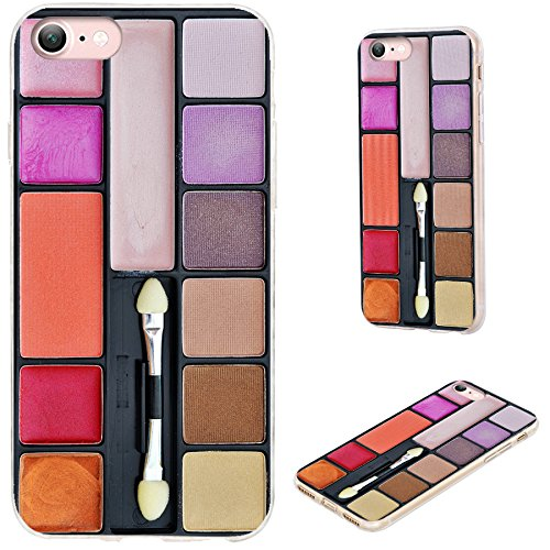 iPhone 7 Case,VoMotec [Original series] Shockproof Anti-scratch Slim Flexible Soft TPU Protective Skin Cover Case For Apple iPhone 7 4.7 inch,funny colorful makeup (Makeup In The 80s)