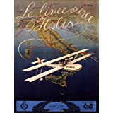 ITALIAN AIRLINES AIRPLANE TRAVEL TOURISM ITALY VINTAGE POSTER REPRO