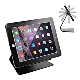 E.Morningstar iPad Desktop Anti-Theft Security Kiosk POS Stand Holder Enclosure with Lock & Key for Tablets iPad 2,3,4, iPad air, iPad air 2, iPad Pro 9.7'', iPad 2017, Flip & Rotate Design, Black