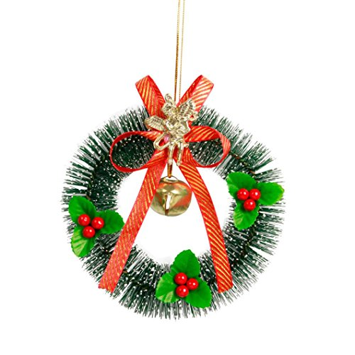 Hot Sale!!Woaills Holiday Gift Pendant,Christmas Tree Decoration Small Wreath Ornament Home Decor (Red) ()