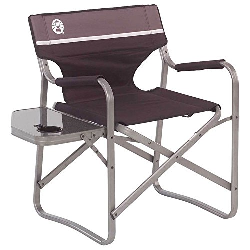 Coleman Portable Deck Chair with Side Table (Black / Gray) by Coleman_