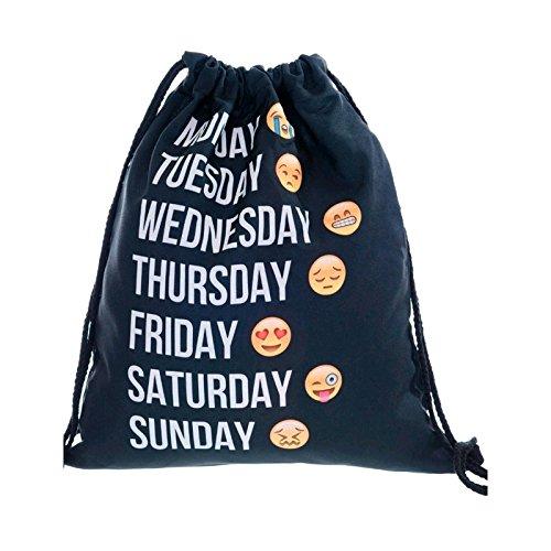 Generic G93830: cute Emoji Flodable shopping bag zaino borsa sportiva per conservare abiti borse per cosmetici Home organizer