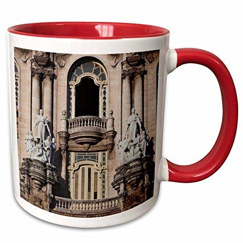 3dRose Danita Delimont - Theaters - Cuba, Havana, Gran Teatro de a Habana, Theater - CA11 WBI0113 - Walter Bibikow - 15oz Two-Tone Red Mug (mug_134270_10)
