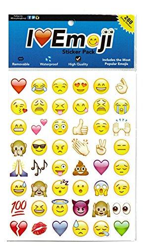 SHOT-in Lovely 48die cut Emoji-Lächeln Expression Gesicht Aufkleber Handy Laptop Decor Mixed Color