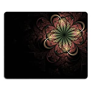 Pattern Pink Green Flower Mouse Pads Customized Made to Order Support Ready 9 7/8 Inch (250mm) X 7 7/8 Inch (200mm) X 1/16 Inch (2mm) High Quality Eco Friendly Cloth with Neoprene Rubber Liil Mouse Pad Desktop Mousepad Laptop Mousepads Comfortable Computer Mouse Mat Cute Gaming Mouse_pad