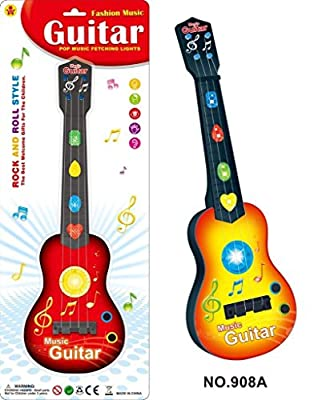 Lightahead Kids Rock and Roll Electric Guitar Toy with Preset Music & Vibrant Sounds