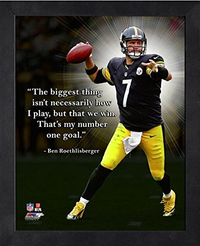 Ben Roethlisberger Pittsburgh Steelers ProQuotes Photo (Size: 9