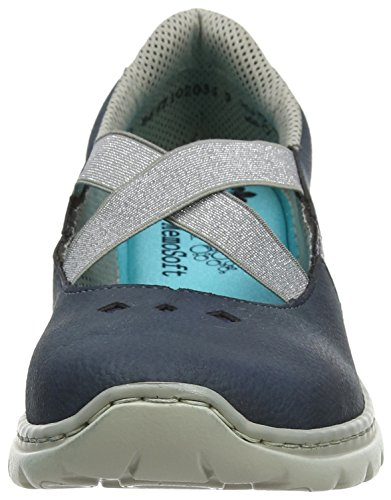 14 Sneakers Bleu Femme L3280 Rieker 14 Basses fUOqwz4wx