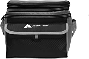 OZARK TRAIL 6 Can Cooler with Expandable Top- Grey/Black