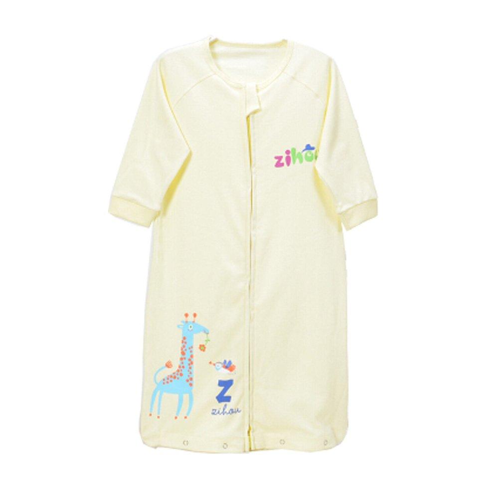 Unisex-Baby Newborn 100% Cotton Sleep Bag Sack,thin pale yellow