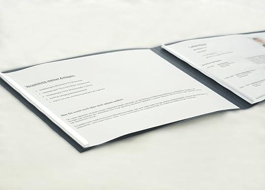 Bewerbungsshop24 2-Part Square Résumé Folder Blue: Amazon.Co.Uk