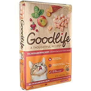 GOODLIFE Adult Real Chicken and Brown Rice Recipe Dry Cat Food 16 Pounds